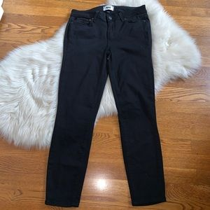 Paige verdugo crop black stretch denim jeans 29